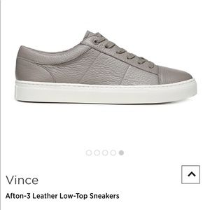 Vince Grey Leather Women's Sneakers Size 10